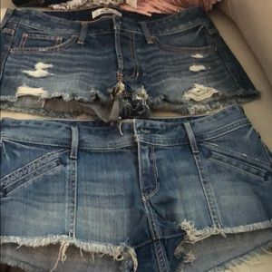 Bundle of Two Hollister jean shorts!